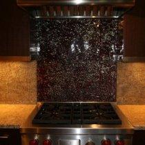 Reverse Painted Glass Kitchen Backsplashes